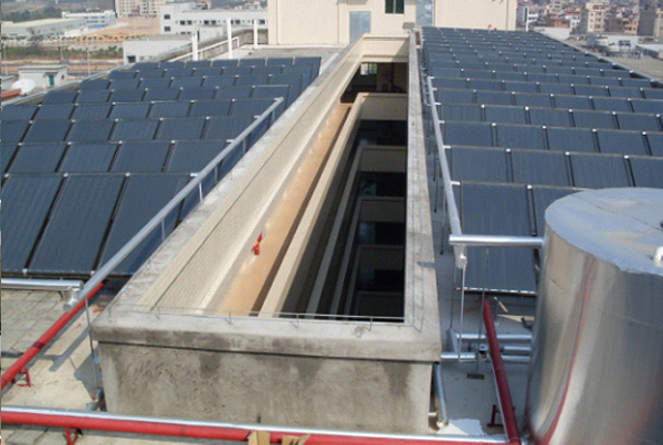 工厂热水工程|太阳能热水器工程|热泵热水工程|炬邦